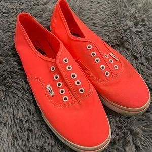 Vans neon Orange size 9